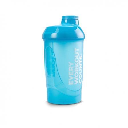 Шейкер Prozis 600 мл, голубой - Every Workout Counts