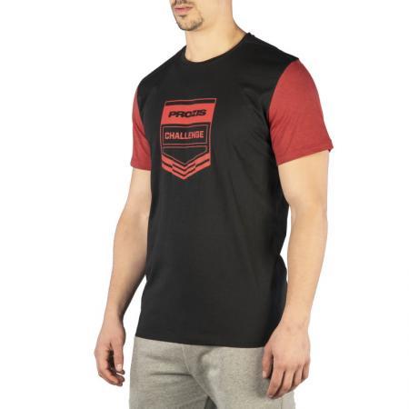 Футболка мужская Prozis Challenge, Black/Red - M