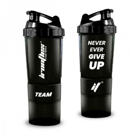 IronFlex Spider Bottle 500 мл + 2 контейнера, Never Ever Give Up