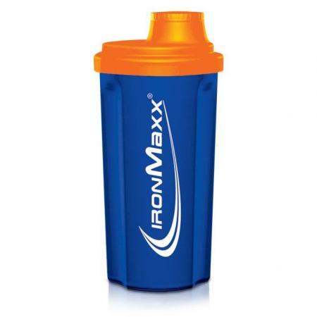 IronMaxx 700 мл, синий с оранжевой крышкой