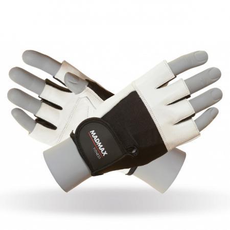 Перчатки MAD MAX FITNESS MFG 444, белые