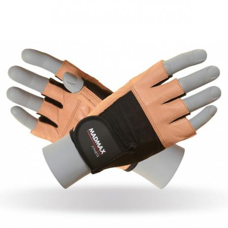 Перчатки MAD MAX FITNESS MFG 444, коричневые