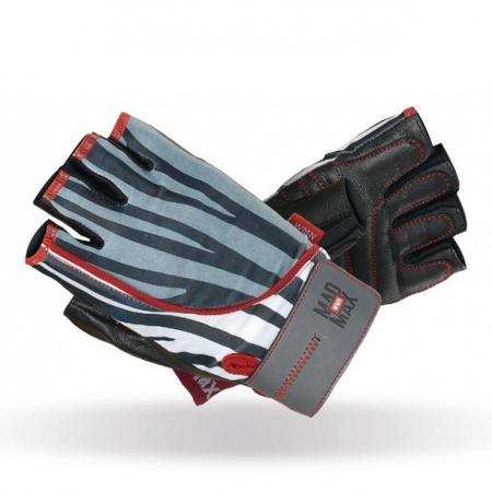 Перчатки женские MAD MAX Nine-eleven, Zebra - MFG 911