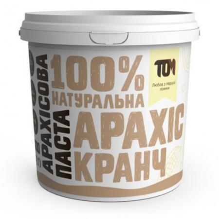 MasloTom арахисовая паста кранч, 1 кг