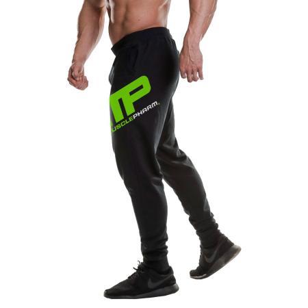 Штаны MusclePharm Jogger Logo, черно-зеленые