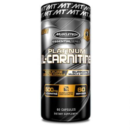 Muscletech Platinum 100% L-Carnitine, 60 капсул