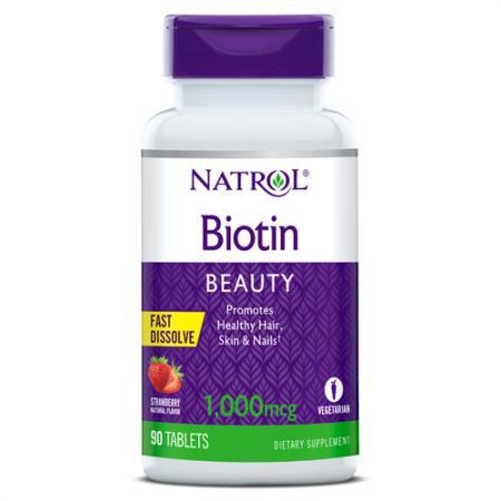 Natrol Biotin 1000 mcg, 90 таблеток - клубника