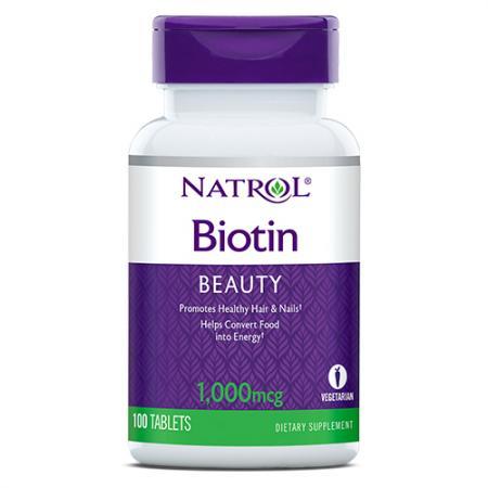 Natrol Biotin 1000 mcg, 100 таблеток