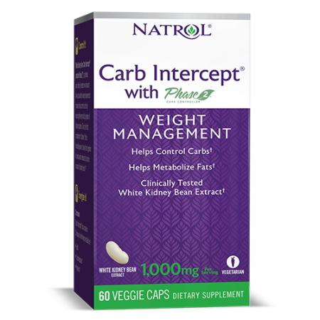 Natrol Carb Intercept Phase2, 60 вегакапсул