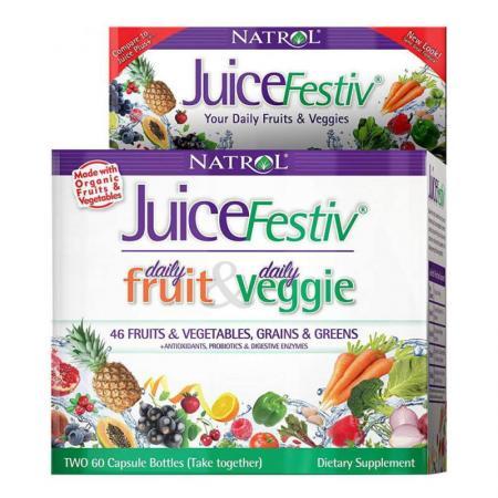 Natrol JuiceFestiv, 120 капсул