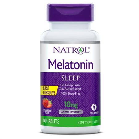 Natrol Melatonin 5mg Fast Dissolve, 90 таблеток - клубника