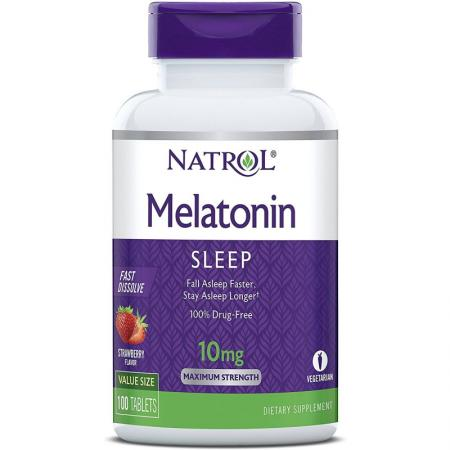 Natrol Melatonin 10mg Fast Dissolve, 100 таблеток