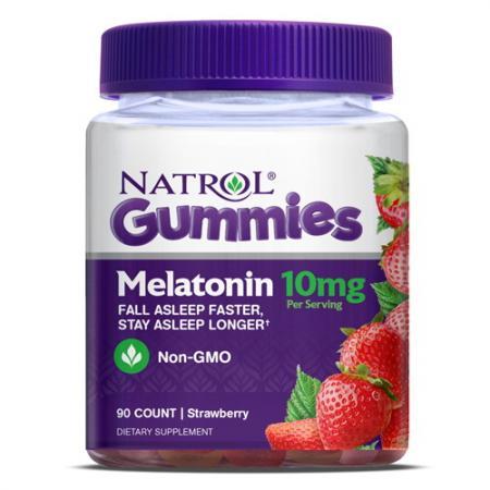 Natrol Melatonin Gum 10mg, 90 жевательных таблеток