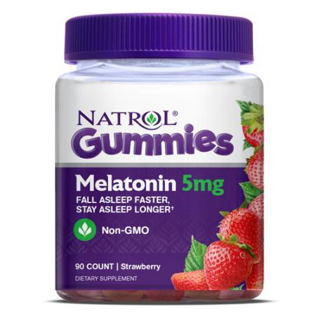 Natrol Melatonin Gummies 5mg, 90 желеек - клубника