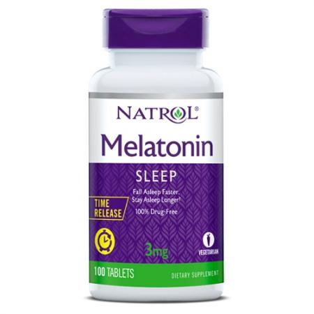 Natrol Melatonin 3 mg Time Release, 100 таблеток