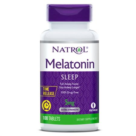 Natrol Melatonin 5 mg Time Release, 100 таблеток