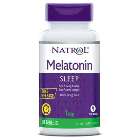 Natrol Melatonin 1mg Time Release, 90 таблеток