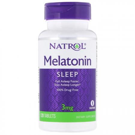 Natrol Melatonin 3mg, 120 таблеток