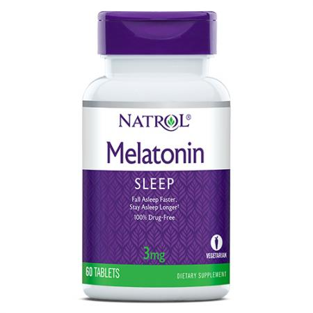 Natrol Melatonin 3mg, 60 таблеток