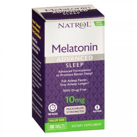 Natrol Melatonin 10mg Advanced Sleep, 100 таблеток