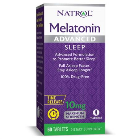 Natrol Melatonin 10mg Advanced Sleep, 60 таблеток