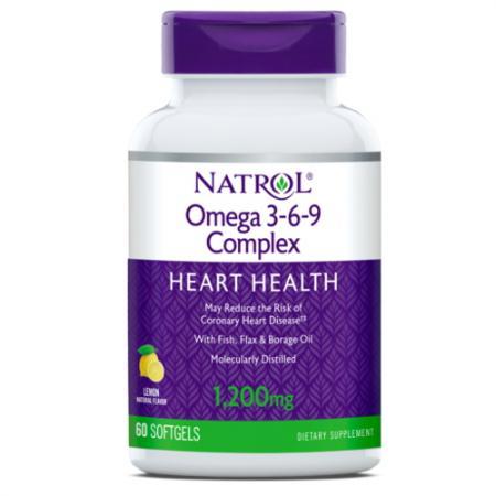 Natrol Omega 3-6-9 Cmplx, 60 капсул
