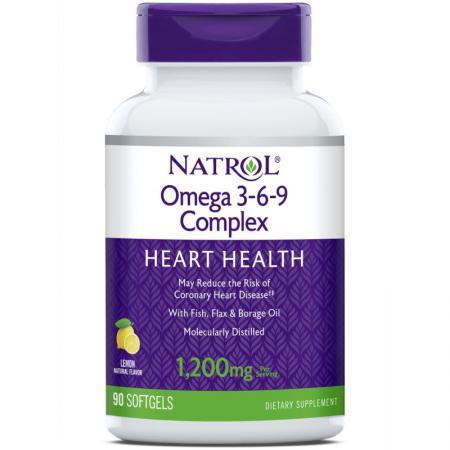 Natrol Omega 3-6-9 Complex, 90 капсул