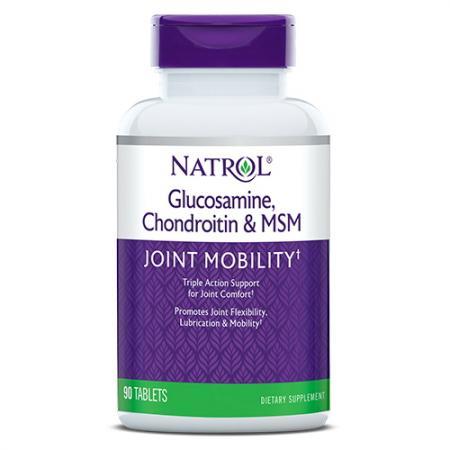 Natrol Glucosamine Chondroitin MSM, 90 таблеток