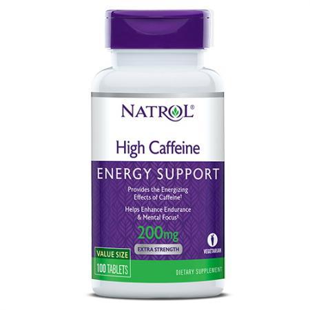 Natrol High Caffeine, 100 таблеток
