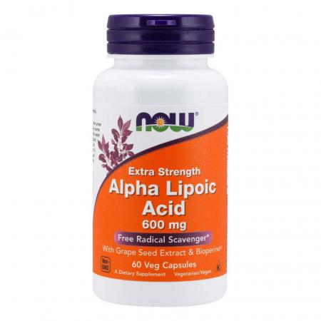 NOW Alpha Lipoic Acid 600 mg, 60 вегакапсул