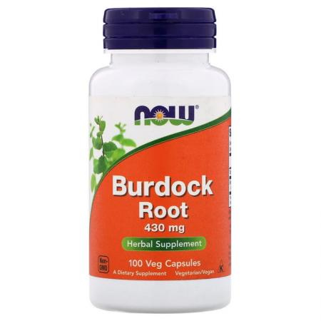 NOW Burdock Root 430 mg, 100 капсул
