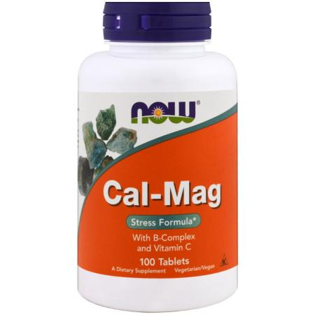 NOW CAL-MAG 500/250 mg, 100 таблеток