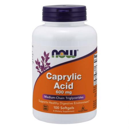 NOW Caprylic Acid 600 mg, 100 капсул