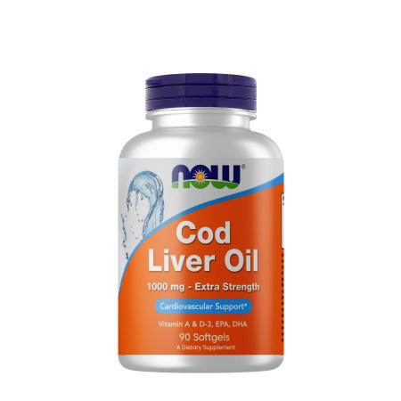 NOW Cod Liver Oil 1000 mg, 90 капсул