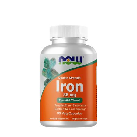 NOW Iron 36 mg, 90 вегакапсул