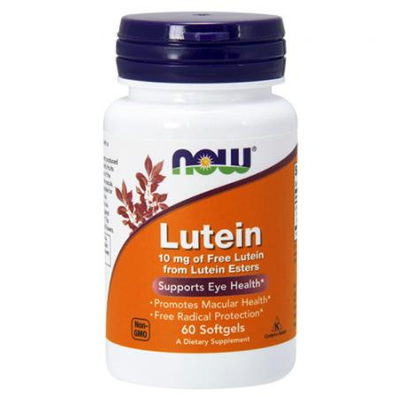 NOW Lutein 10 mg, 60 капсул