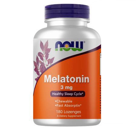 NOW Melatonin 3 mg, 180 жевательных таблеток