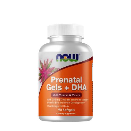NOW Prenatal Gels with DHA, 90 капсул