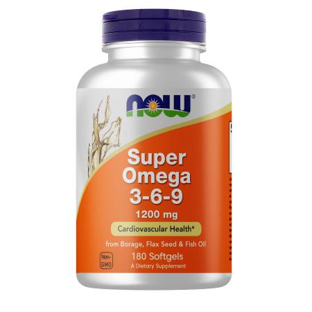 NOW Super Omega 3-6-9 1200 mg, 180 капсул
