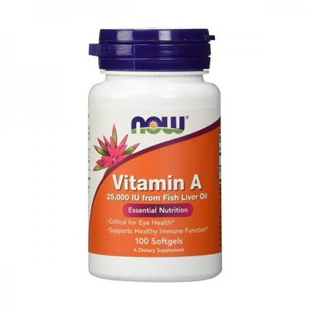 NOW Vitamin A 25000 IU, 100 капсул