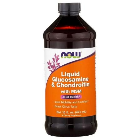 NOW Glucosamine & Chondroitin, 473 мл