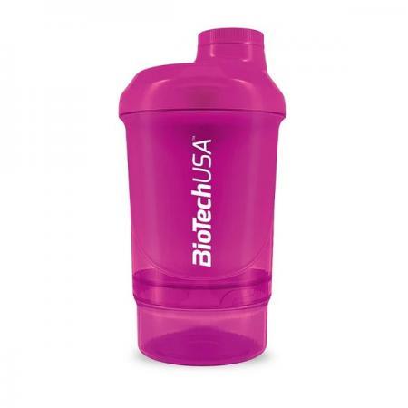 Biotech Wave + Nano Shaker 300 мл, розовый