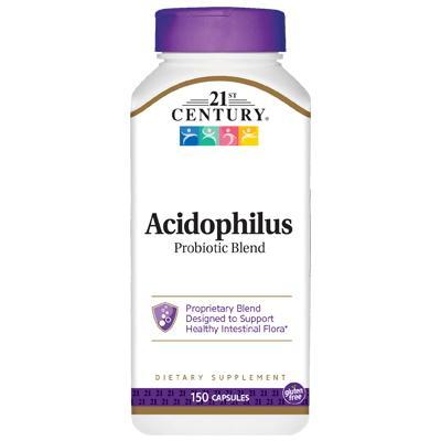 21st Century Acidophilus Probiotic Blend, 150 капсул