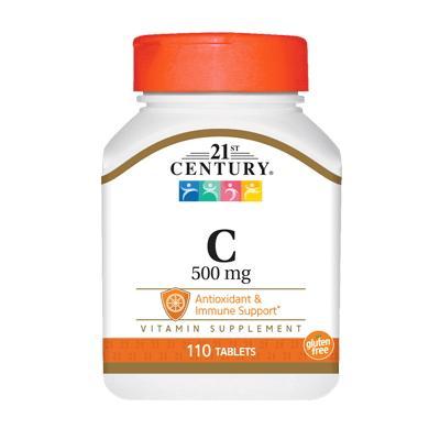 21st Century Vitamin C 500 mg, 110 таблеток