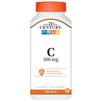 21st Century Vitamin C 500 mg, 250 таблеток