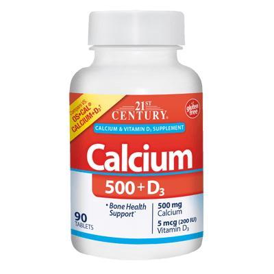 21st Century Calcium 500 + D3 200 IU, 90 каплет