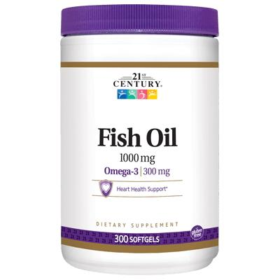 21st Century Fish Oil Omega-3 1000 mg, 300 капсул