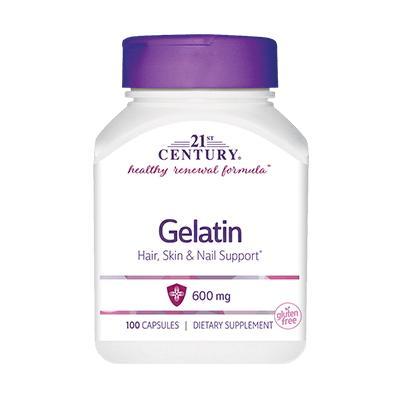 21st Century Gelatin 600 mg, 100 капсул