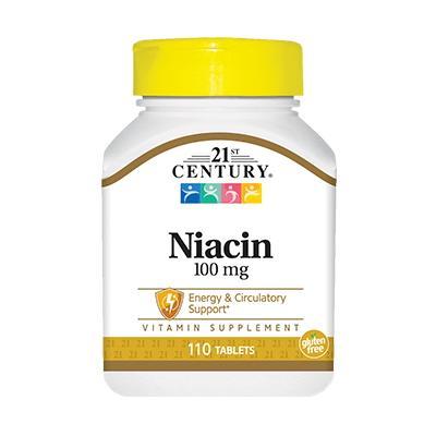 21st Century Niacin 100 mg, 110 таблеток