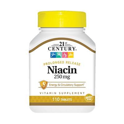 21st Century Niacin 100 mg, 250 таблеток